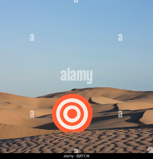 USA, Utah, Little Sahara, target on desert - Stock Image