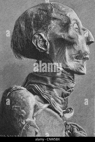 Head of the mummy of Ramses II, Ramses the Great, ca. 1303 - 1213 BC, one of the most important rulers of ancient - Stock-Bilder
