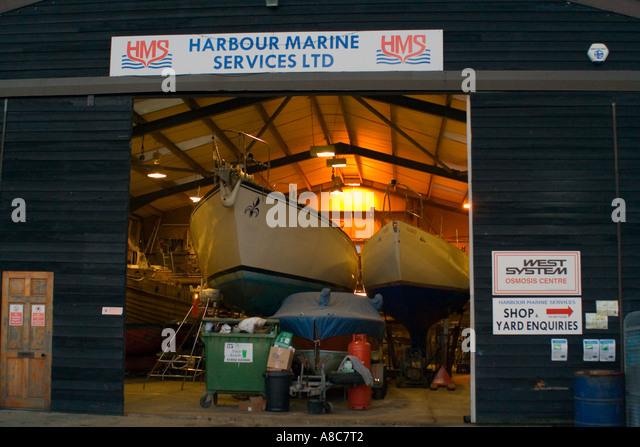 Boatyard Southwold Suffolk England Europe - Stock Image