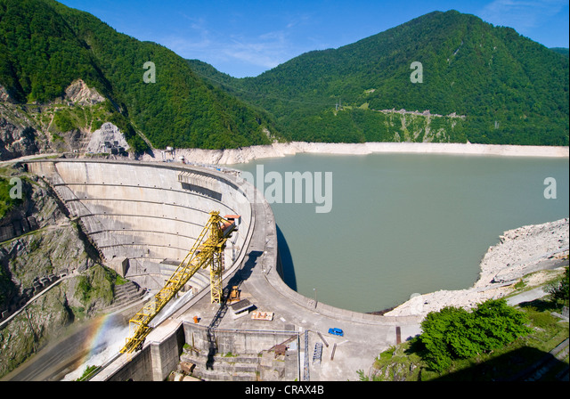 Inguri Dam between Georgia and Abkhazia, Middle East - Stock Image