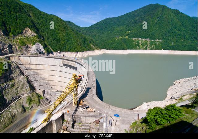 Inguri Dam between Georgia and Abkhazia, Middle East - Stock Image