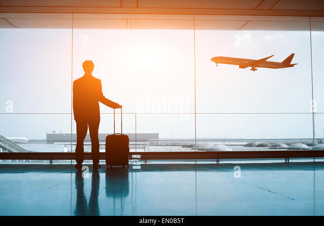 waiting in the airport - Stock Image