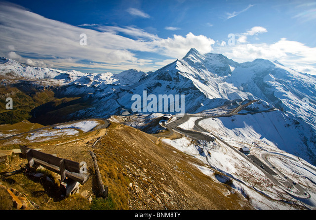 Austria Grossglockner pass mountain pass alps sepentines Upper Tauern mountains holidays travel, - Stock Image