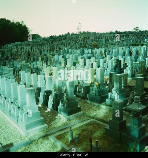 A cemetery, Osaka, Japan - Stock Image