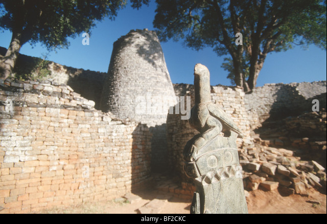 Zimbabwe Bird, Great Zimbabwe ruins, Zimbabwe - Stock Image
