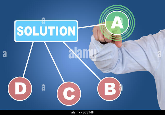 Businessman choosing a checkbox choice for business concept, making a decision - Stock Image