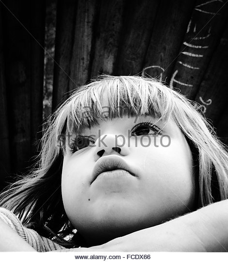 Pensive Kid - Stock Image