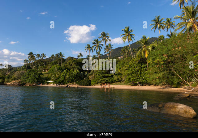 Arrozal Beach in Ilhabela, SP, Brazil - Stock Image