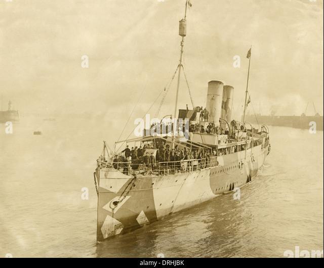 President Wilson arriving at Dover on SS Brighton - Stock-Bilder