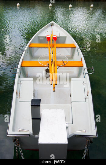 boat, high, tall, white, rowing boat, sailing boat, sailboat, watercraft, - Stock Image