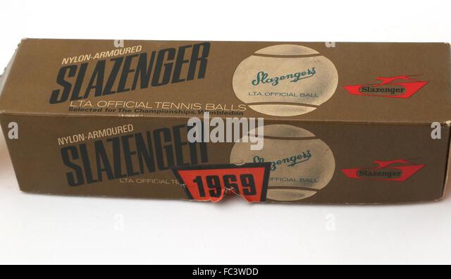 Slazenger Tennis Balls In Box - Stock Image