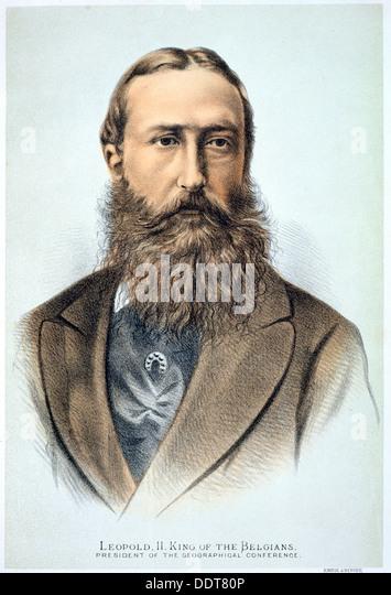 Leopold II, King of the Belgians, 19th century. Artist: Unknown - Stock-Bilder