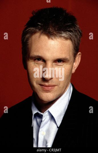 Bangs, Alan, * 1951, British music journalist, presenter, portrait, 1997, - Stock-Bilder