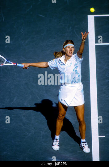 Steffi Graf (GER) competing at the 1994 US Open. - Stock-Bilder