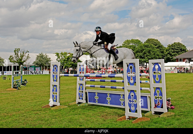 0044 Show jumping Kent Show Detling Kent England - Stock Image