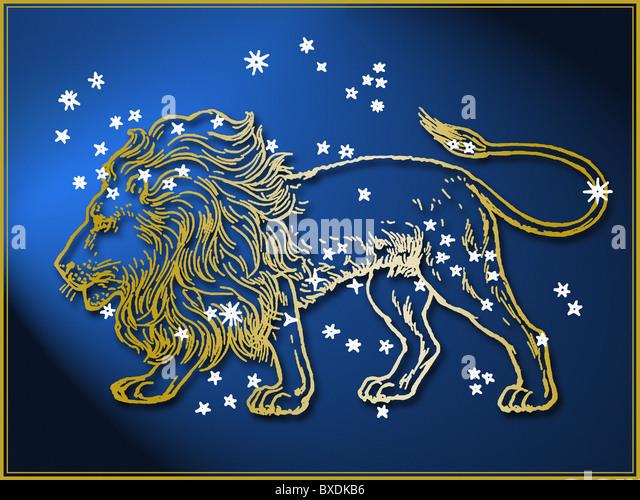 Leo astrological sign - Stock Image