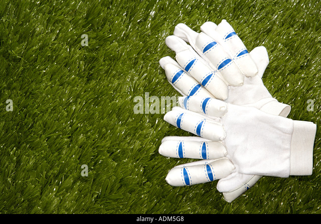 Cricket gloves - Stock Image