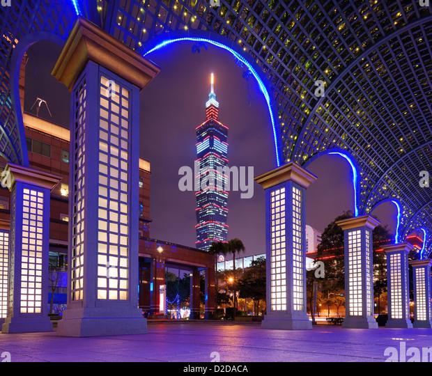 Taipei, Taiwan famed cityscape. - Stock Image