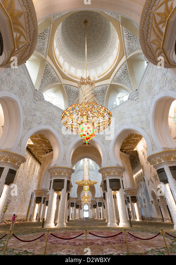 Grand Mosque Abu Dhabi Interior Stock Photos Amp Grand