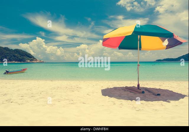 Vintage beach umbrella