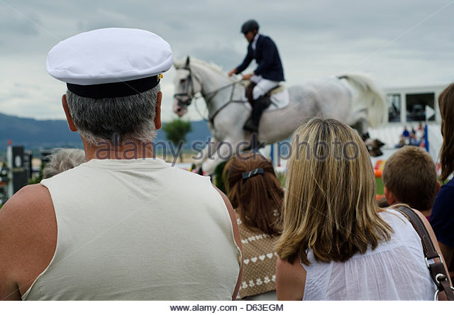 Show jumping event in Santander, Northern Spain, July 2012 - Stock Image