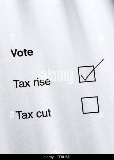 Vote for tax rise - Stock Image