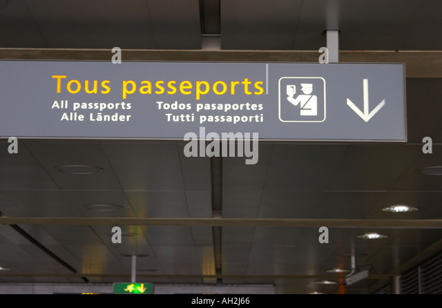 Paris Airport Passport Stock Photos Amp Paris Airport