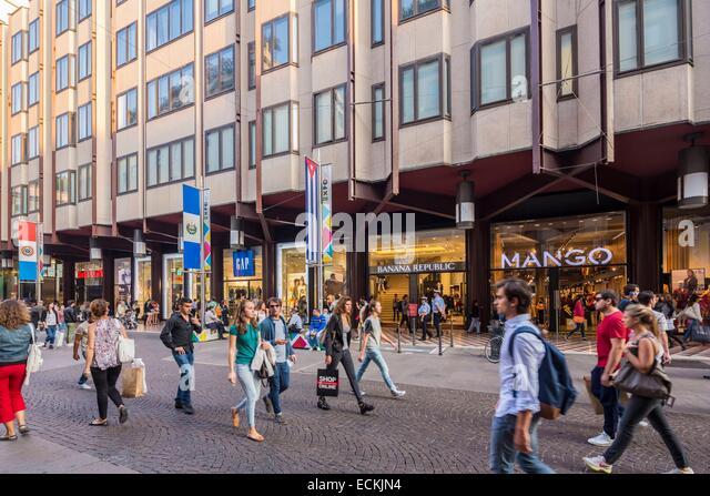 Italy, Lombardy, Milan, corso Vittorio Emanuele II - Stock Image