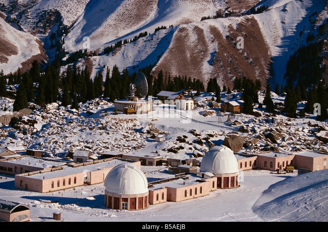 Astronomical station Almaty Kazakhstan Central Asia Asia - Stock Image