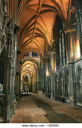 Inside Lincoln Cathedral - Stock Image