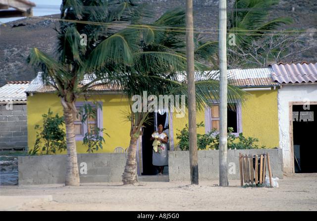 Los Roques Archipelago Venezuela Gran Roque village - Stock Image