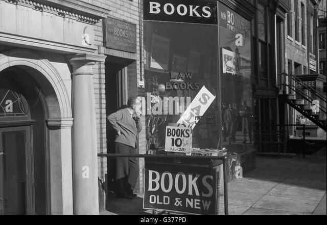 Bookstore, Washington, D.C. Date 1937 Nov. - Stock Image