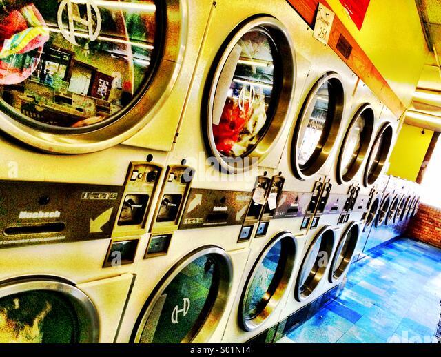 Laundromat - Stock Image