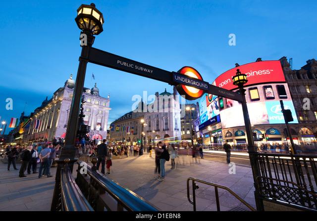 Piccadilly Circus, London, England, United Kingdom, Europe - Stock Image