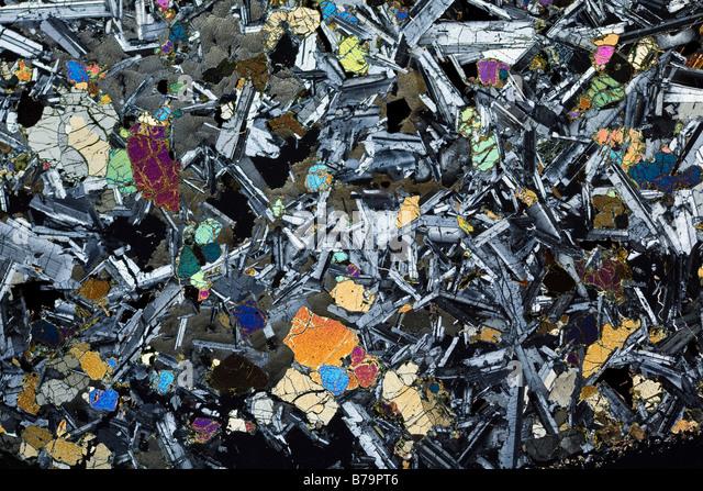 Polished Olivine Basalt : Plagioclase stock photos images alamy