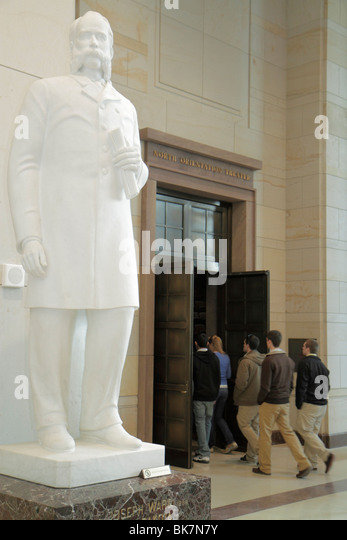 Washington DC United States US Capitol Emancipation Hall Visitor Center Joseph Ward South Dakota statehood leader - Stock Image