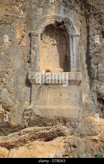 Banias archaeology - Stock Image