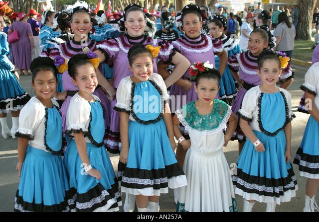 Albuquerque New Mexico State Fair cultural parade - Stock Image