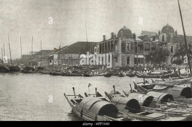 Hankow, China, circa 1890 - Stock Image