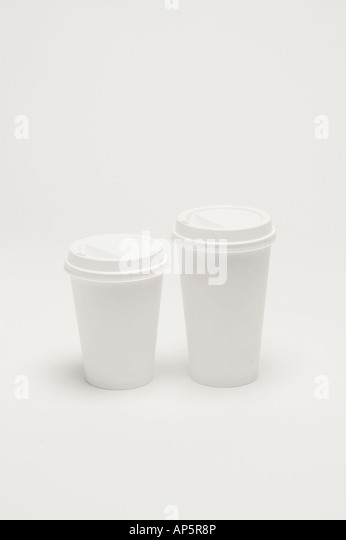to go coffee cups container on white background - Stock-Bilder