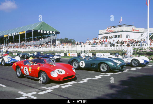 1998 Goodwood revival meeting.Start of Lavant Cup. Artist: Unknown. - Stock Image