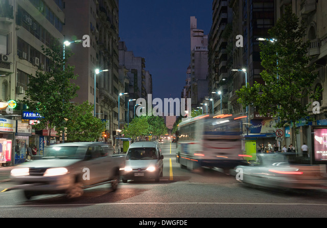 Traffic, Montevideo - Stock Image