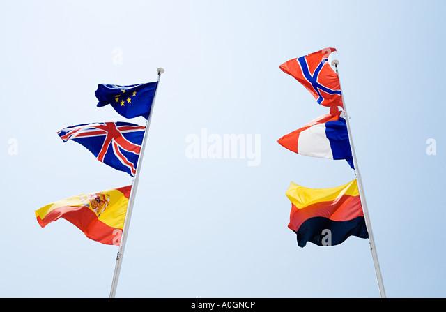 Flags of europe - Stock-Bilder