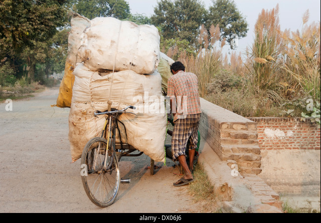 Indian Rural Working - Stock Image