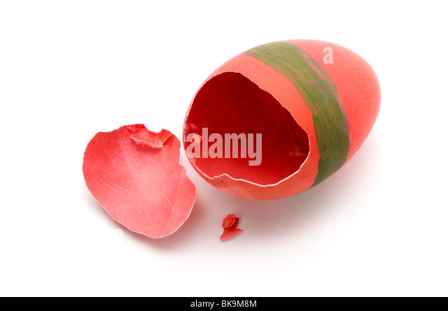 broken easter egg - Stock Image