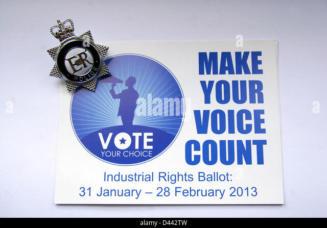 4th March 2013 The police federation of England and Wales fails to gain enough votes to lobby for the right to strike. - Stock Image