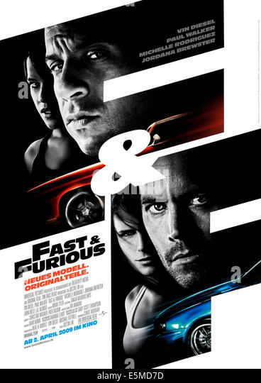 FAST & FURIOUS, (aka FAST AND FURIOUS), top from left: Michelle Rodriguez, Vin Diesel, bottom from left: Jordana - Stock Image