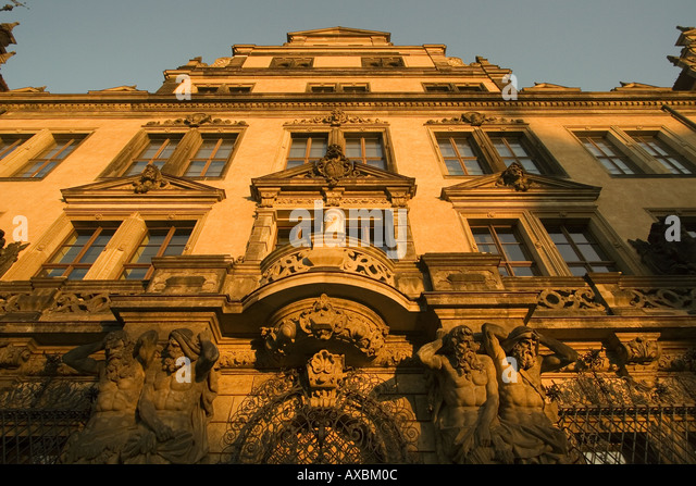 DEU Dresden Saxony old city center castle facade - Stock Image