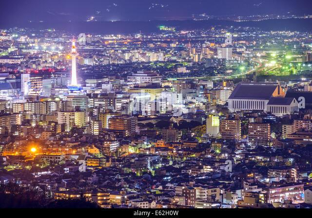 Kyoto, Japan modern skyline. - Stock-Bilder