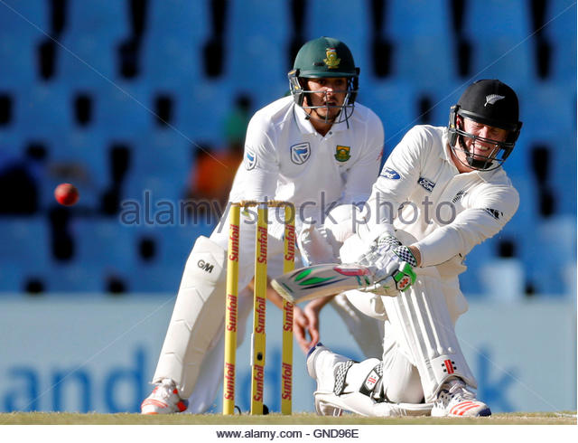 Cricket - New Zealand v South Africa - second cricket test match - Centurion Park, Centurion, South Africa - 30/8/2016. - Stock Image
